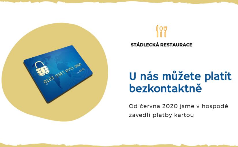 Plaťte kartou 💳 i ve Stádlecké hospodě